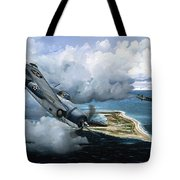 Cat And Mouse Over Wake Tote Bag