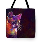 Cat Background Image Cute Red  Tote Bag