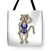 Cat Bathing Suit Tote Bag