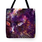 Cat Black View Close  Tote Bag