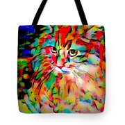 Cat By Fauvism Tote Bag