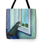 Cat By The Window Tote Bag
