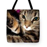 Cat Card Tote Bag