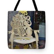 Cat Chair Tote Bag