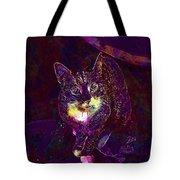 Cat Contemporary Design Brown  Tote Bag