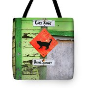 Cat Crossing In Moss Landing Tote Bag by Art Block Collections