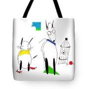 Cat, Dog, Hydrant Tote Bag
