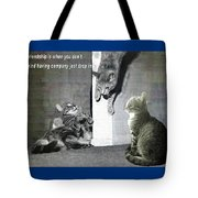 Cat Dropping In Tote Bag