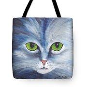 Cat Eyes Blue Tote Bag