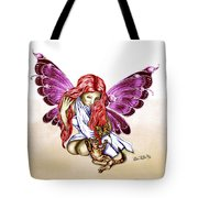Cat Fairy In Purple  Tote Bag