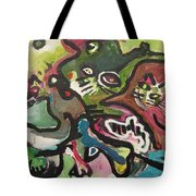 Cat Fight Tote Bag