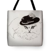 Snow White Wearing A Hat Tote Bag