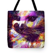 Cat Head Face Macro Close Up  Tote Bag