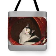 Cat In A Basket Tote Bag
