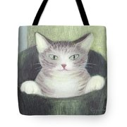 Cat In A Bucket Tote Bag