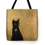 Cat In A Garden Tote Bag