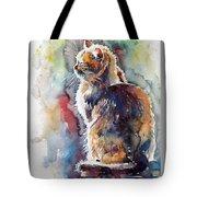 Cat In Backlight Tote Bag