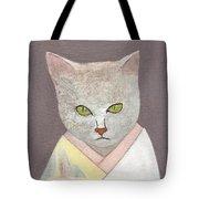 Cat In Kimono Tote Bag