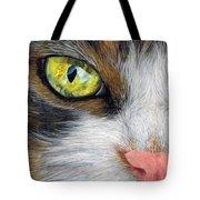 Cat In Pastel Tote Bag