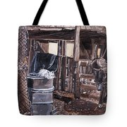 Cat In The Barn Tote Bag