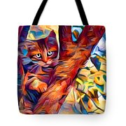 Cat In Tree Tote Bag