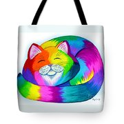 Cat Napping Tote Bag