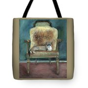 Cat On A Chair Tote Bag