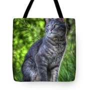 Cat On A Post Tote Bag