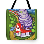 Cat On A Red Tin Roof Tote Bag