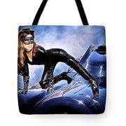 Cat On Bat Mobile Tote Bag