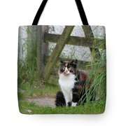 Farm Cat On Duty Tote Bag