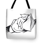 Cat On Pillow Tote Bag