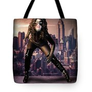 Cat On The Town Tote Bag