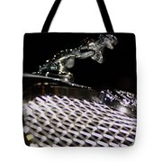 Cat Over The Grille Tote Bag