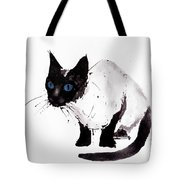 Cat Painting Tote Bag