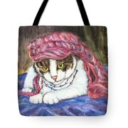 Tabby Cat With Yellow Eyes Tote Bag