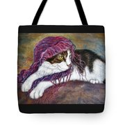 Cat Painting  Charlie The Pirate Tote Bag