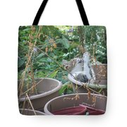 Cat Playing In Flowerpot Tote Bag