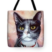 Cat Painting Cat Portrait Watercolor Cat Cat Art Cat Lover Gift Animal Portrait Watercolor Original Tote Bag