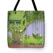 Cat Tree House Tote Bag