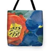 Cat Tulip Tote Bag