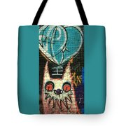 Cat With Teal Heart Tote Bag