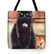 Cat With The Pumpkin Tote Bag
