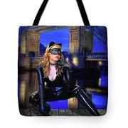 Cat Woman In London Tote Bag
