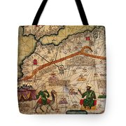 Catalan Map Of Europe And North Africa Charles V Of France In 1381  Tote Bag