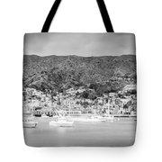 Catalina Island Avalon Bay Black And White Panorama Photo Tote Bag