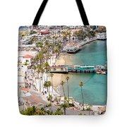 Catalina Island Avalon Waterfront Aerial Photo Tote Bag
