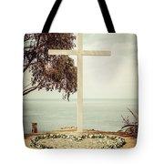 Catalina Island Cross Picture Retro Tone Tote Bag
