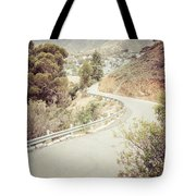 Catalina Island Mountain Road Picture Tote Bag