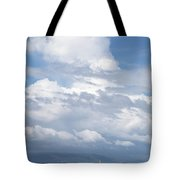 Catamaran Beach Clouds Tote Bag